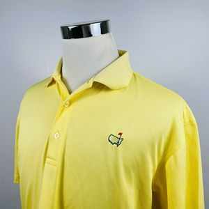 Masters Large Tech Performance Golf Polo Yellow